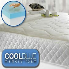Cool Blue Memory Foam Pocket 1500 Memory Foam Mattress 3ft 4ft6 5ft Matress