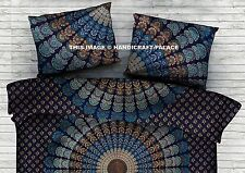 Peacock Mandala Decor Pillow Cover Indian Cushion Case Bohemian Boho Throw 28*18