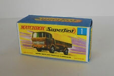Repro Box Matchbox Superfast Nr. 1 Mercedes Truck