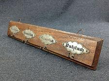 alte Hakenleiste Holz Handtuchhalter Putztuch Messer Gläsertuch Shabby Landhaus