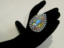Adjustable Crystal AB Rhinestone Ring Drag Queen SSPR-1-AB/S