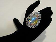 Adjustable Crystal AB Rhinestone Ring Drag Queen SSPR-1-AB/S