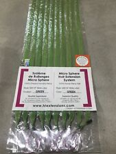 "100% Human Remy Hair Extensions MS18"" HAIR TREATS Color GREEN 100 PIECES!"