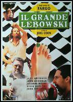 "THE BIG LEBOWSKI 1998 Original Movie Poster 39x55"" 2Sh Italian RARE COEN BRIDGES"