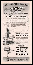 1944 NEPTUNE Outboard Motor WWII AD available after the war