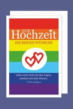 Homo-Ehe Hochzeit Grußkarte Mrs&Mrs Frau&Frau Lebensweg 16x11cm