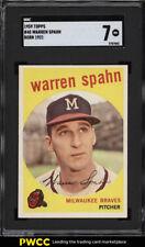 1959 Topps Warren Spahn #40 SGC 7 NRMT (PWCC)
