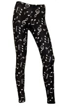 Classic Musical Notes Keys Symbols Musician Alternative Printed Leggings