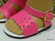 """**SALE** HOT PINK Flower-Cut DOLL SANDALS SHOES fits 18"""" AMERICAN GIRL DOLL"""