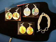 Christmas Charm Bracelet Multichain 6 inch with 6 Reversible Charms 123 3