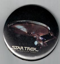 "Vintage 3"" Star Trek The Wrath of Kahn Movie Pin Back Button NOS"