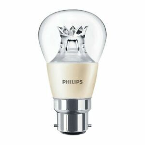 3 x Philips 6w = 40w LED DimTone Golf Ball Bayonet Cap B22  Dimmable Lamp 2700k