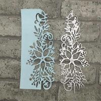 Cutting Dies Hollow Flower Xmas Christmas Poinsettia Greeting Card Frame Metal