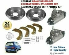 FOR FIAT SEICENTO 187 1998-> 2X REAR BRAKE DRUMS + SHOES + 2X WHEEL CYLINDERS