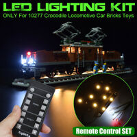LED Light Lighting Remote Kit For LEGO 10277 Crocodile Locomotive Car Bricks ⋆