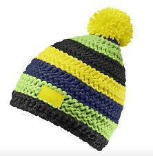 Adidas Pro Wool Crochet Bobble Funky Beanie Hat Yellow - BRAND NEW - G70552 Ski