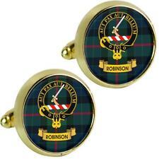 Mens Cufflinks Robinson Scottish Clan Crest Brass Finish Presentation Boxed