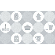 Kitchen Wallpapers Border Grey Pattern Aluminum Foil Self Adhesive Contact Paper