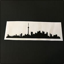 Toronto Skyline Vinyl Sticker Decor Home Wall Decal White Black FREE SHIPPING