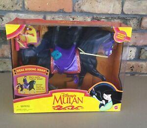 NIB Disney's MULAN Real Riding KHAN Horse Mattel 1997