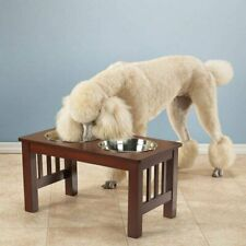 New Pet Studio Mission Diner 32oz Bowls Dog Raised Food Water Double Dishes