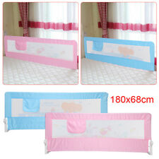 Kids Bed Guard Toddler Safety Children Bedguard Folding Metal Rail 180cm Blue UK