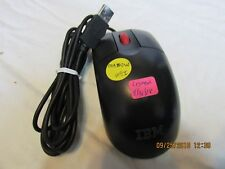 28UO MOUSE IBM MOUSE, BLACK WITH RED SCROLL WHEEL, USB,NEW