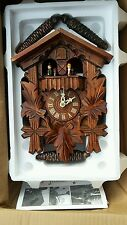 Cuckoo Clock Black Forest 1 Day Original German Wood Carving Mechanical NEW