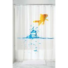 Interdesign #20080 Finn Fish Shower Curtain