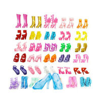 80PCS 40 Pairs Different High Heel Shoes Boots Doll Dresses Clothes