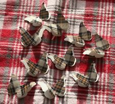 25 BURNS CLAN TARTAN 3D BUTTERFLY WEDDING CONFETTI,TABLE DECORATION, TOPPERS