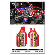 2004-2009 Honda CRF 250 TLD Fork Guards dirt bike graphics by ENJOY MFG