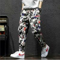 # Fashion Camouflage Overalls Men Korean Trend New Casual Pants Harem Pants
