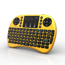 Rii i8+ golden wireles keyboard with Backlit touchpad for smart TV