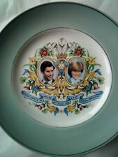 Lady Diana Prince Charles wedding plate Ich Dien 1981 British Royalty England