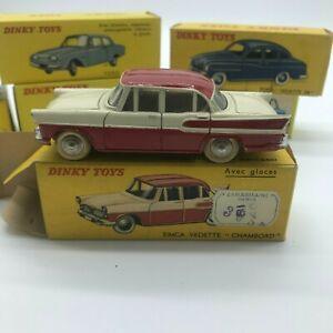 RARE Vrai Dinky toys France Meccano Simca Chambord 24K toit quadri boite origine