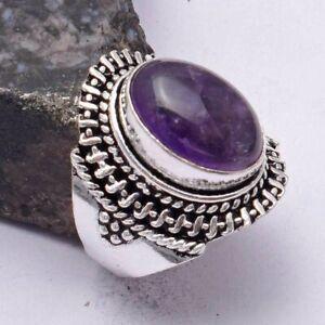 Amethyst Ethnic Handmade Ring Jewelry US Size-6 AR 40444