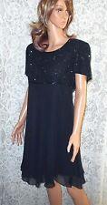 LAURENCE KAZAR XL Stunning Sequin Black Fit & Flare Cocktail Evening Club Dress