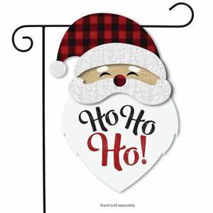 "Santa Christmas Burlap Garden Flag Holiday 12.5"" x 18"" Briarwood Lane"