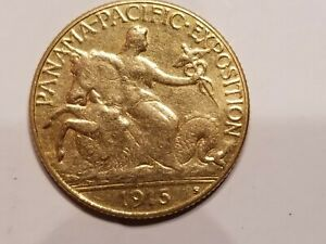 1915-S Pan Pac Commemorative $2.50 Gold Quarter Eagle EF XF Panama Pacific Coin