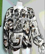 1990s/90s Streetwear Vintage V C Torias Painted Wearable Art Top/Sweat Shirt 1Sz