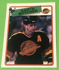 1988-89 O-Pee-Chee Garth Butcher Rookie Card #238  OPC RC Vancouver Canucks