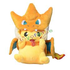 Cute Pokemon Center Mega Tokyo happy Pikazard Pikachu Charizard Plush toys Doll