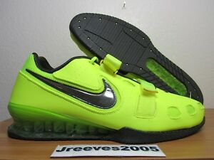 Nike Romaleos 2 Weightlifting Sz 15 100% Authentic Powerlifting Volt 476927 700