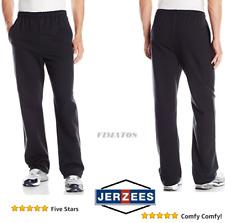 Men's 50% Cotton Athletic Open Bottom Fleece Sweatpant,Black, 3XL By Jerzees