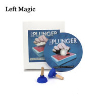 Tiny Plunger (Gimmicks+DVD)-Magic Tricks Close Up Street Stage Card Magic Props