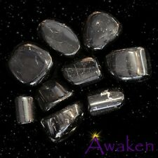 *ONE* BLACK TOURMALINE Natural Tumbled Stone Approx 15-20mm *TRUSTED SELLER*