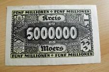 * Círculo Moers 5 millones de marcos 1923 Banknote * (ord2)