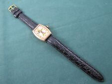 Vintage Tank Style Ingersoll Mickey Mouse Wrist Watch Beautiful Dial