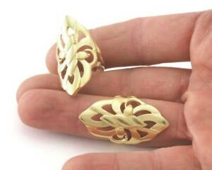 Swirl Twisted Ring Adjustable Raw brass (6-9US inner size) 4199